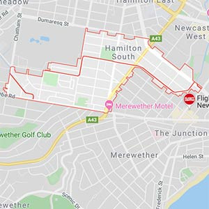 Map of Hamilton South, conveyancer newcastle