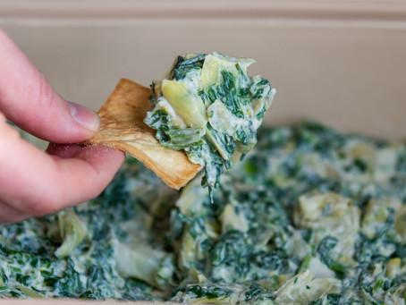 Healthier Spinach & Artichoke Dip (GF, V)