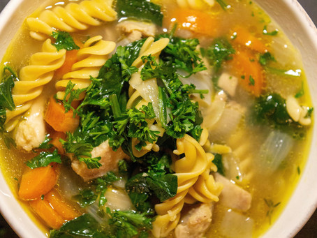 Anti-inflammatory Chicken Noodle Soup (GF)