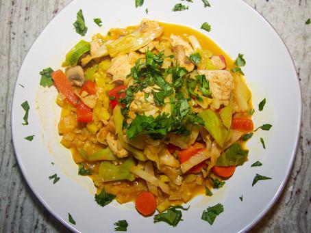 Cabbage Noodle Pad-Thai (GF, VO)