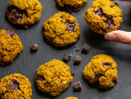 Pumpkin Chocolate Chip Oatmeal Cookies (GF, V)
