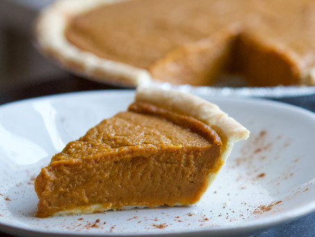 Healthy Pumpkin Pie (GF, V)