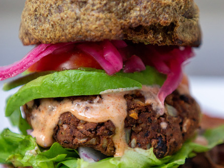 Best Ever Black Bean Burgers (GF, V)
