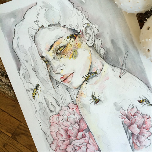 Lady of wasps