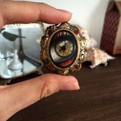 Antique golden eye