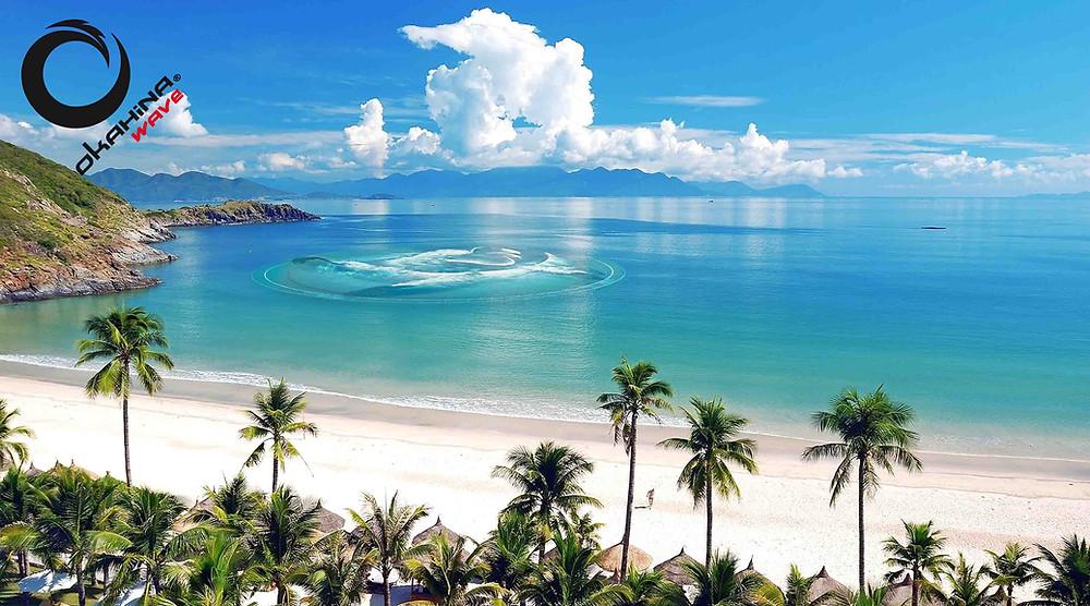 Okahina Wave à Hawaï