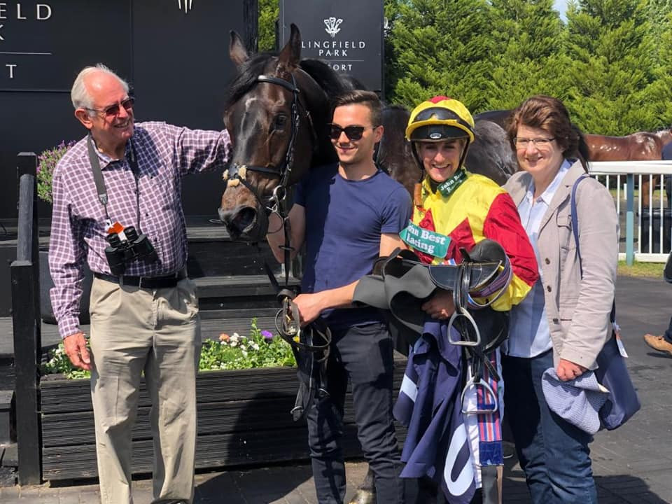 banta bay wins at lingfield park with owners and josephine gordon