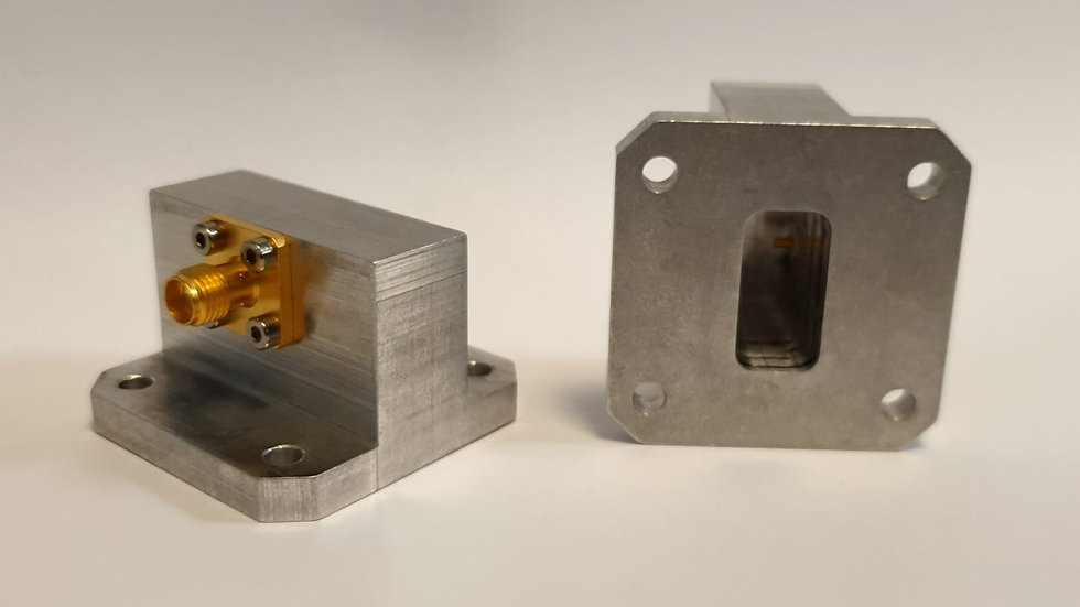 WR-75 Square Type Flange to SMA Female Waveguide to Coax Adapter
