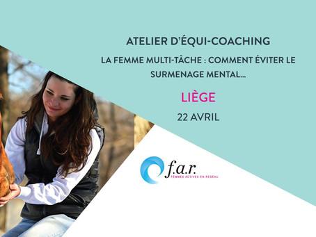 Atelier d'equi-coaching: La femme multi-tâche le 22 avril 2018