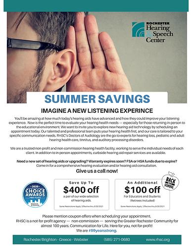RHSC Summer Savings 2021