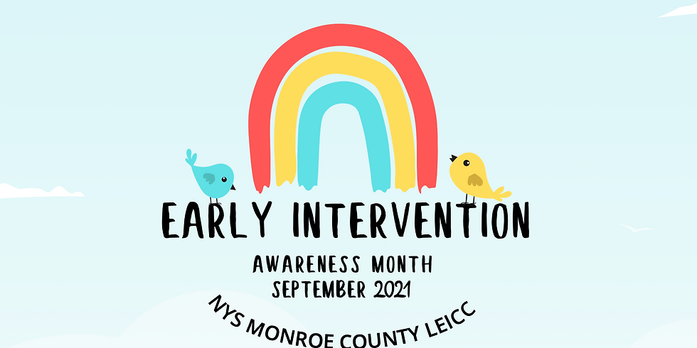 Early Intervention Awareness Month September 2021 | Monroe Country Kick-Off Event