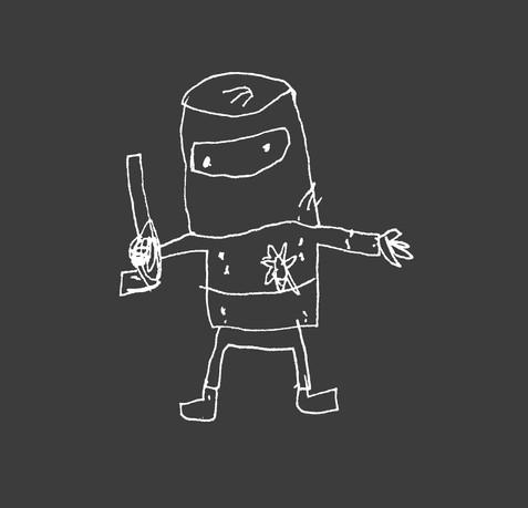 Little Ned original scribble