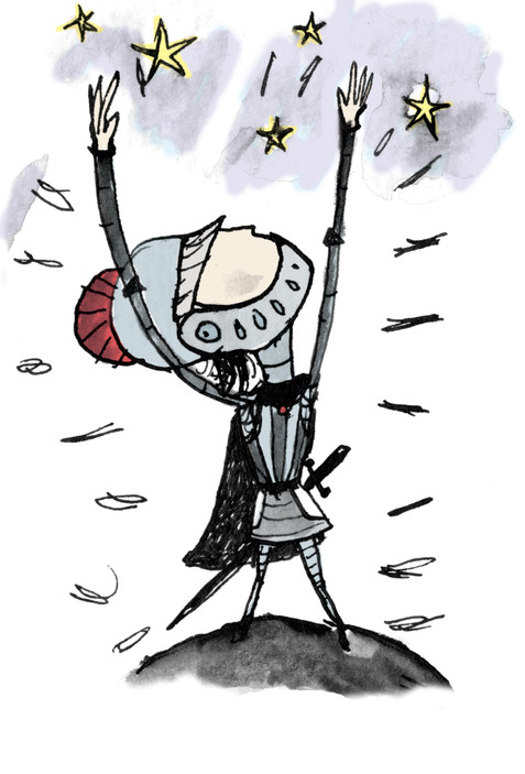 Knight scribble