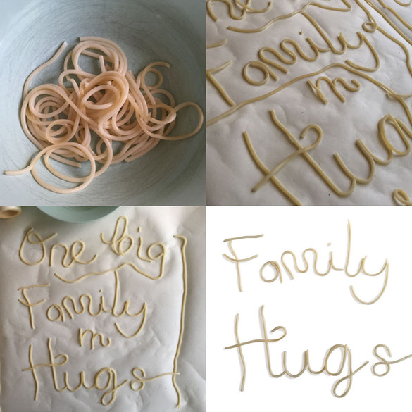 Creating the spaghetti for the lettering