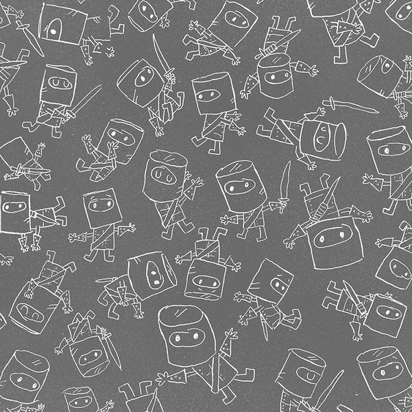Little Ned endpapers