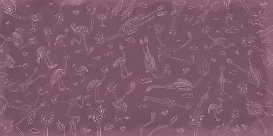 Henry the Flying Emu endpapers