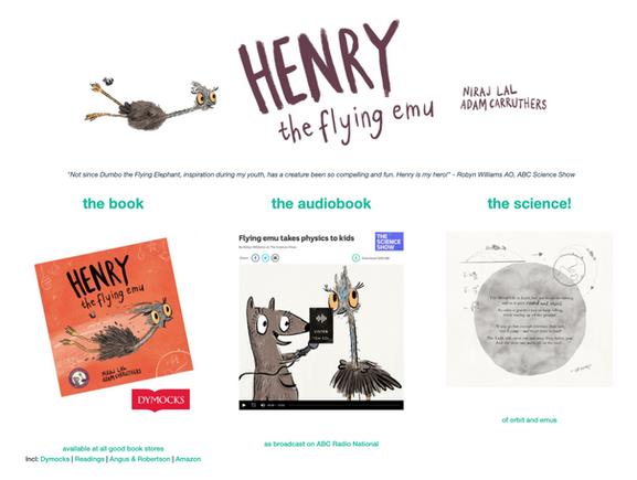 Henry the Flying Emu website