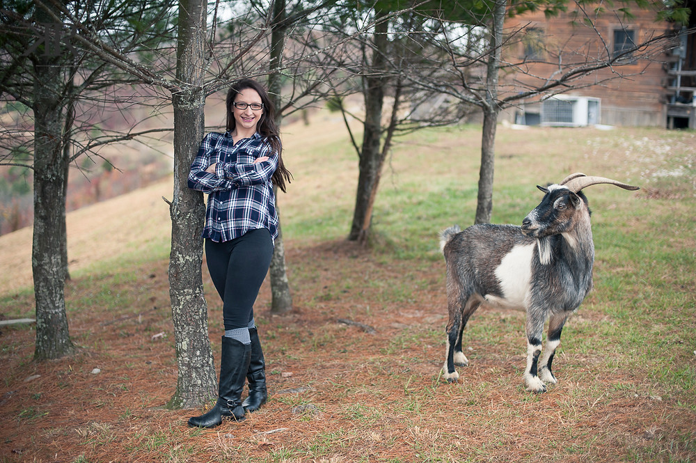 Kayla Ryan Photography Lincoln County WV Senior Pictures Goat Photo bomb