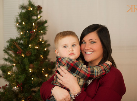 Hunter and Mommy's Christmas Pictures | Kayla Ryan Photography