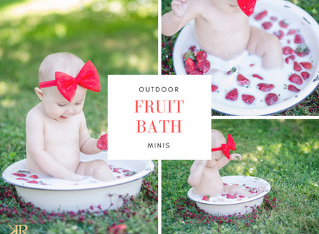 Fruit Bath Mini Sessions