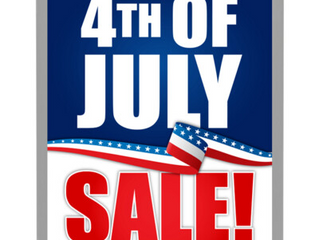 4th of July Inventory Blowout Sale