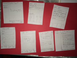 Working out the app paper prototype