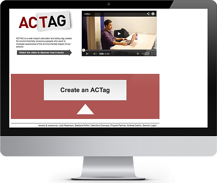 acTAG website mock-up