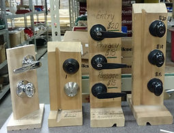 Door knobs, lever door knobs