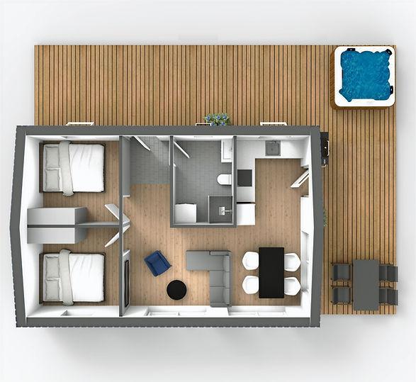 60m2 floor plan