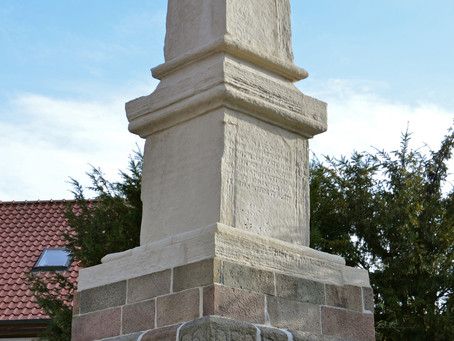 Der Rantzau-Obelisk (1590) in Bad Segeberg