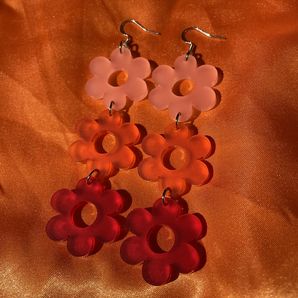 Frosted Daisy Chain Earrings