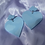 Thumbnail: Blue Clouded Hearts (with studs)