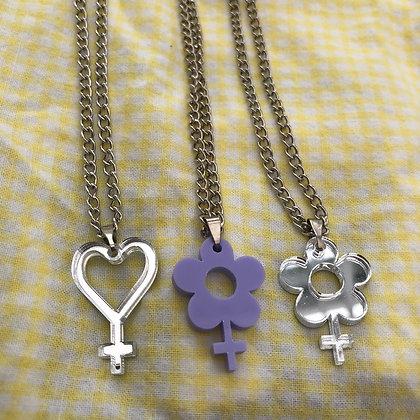 Venus Symbol Acrylic Necklaces