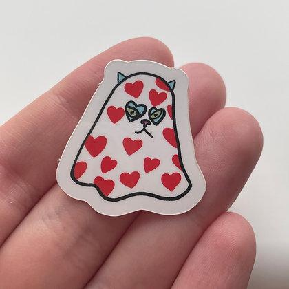 Boo-vy Kitty Sticker