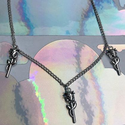 Triple Rose Necklace
