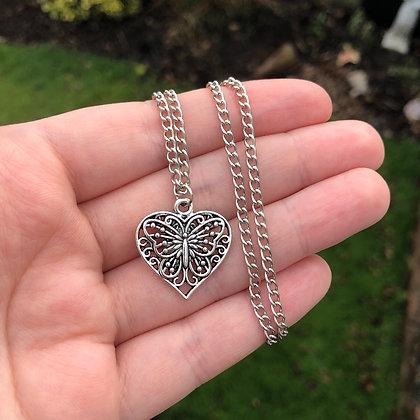 Butterfly Heart Chain