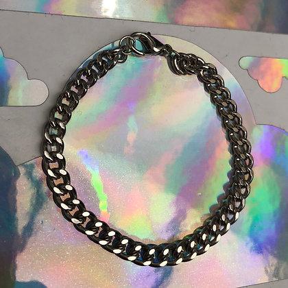 Platinum Curb Chain Bracelet
