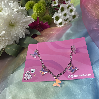 Iridescent Butterfly chain