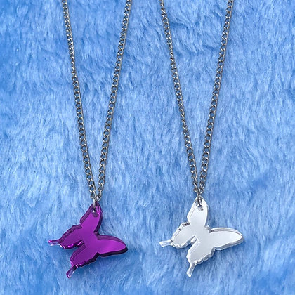 Mirrored Butterfly Necklaces