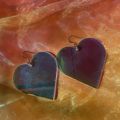 Large Iridescent Hearts