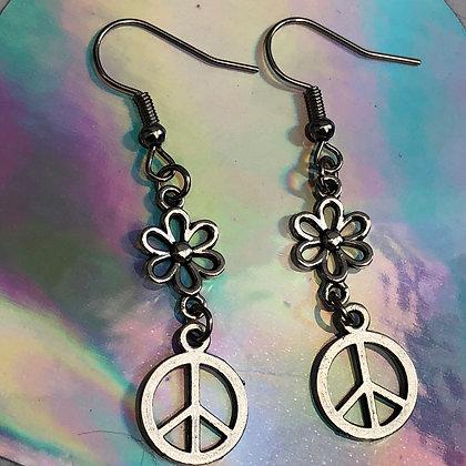 Peace and Love Earrings