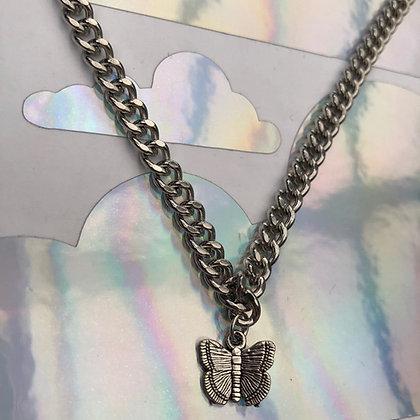 Butterfly Extendable Curb Necklace