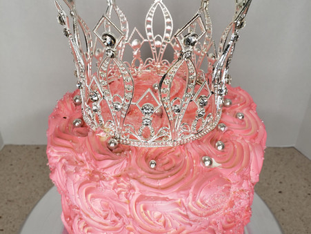 Pink Rosettes Chocolate Cake
