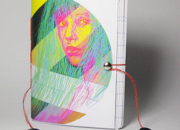 Mini-bloc 40 pages couverture transparente Jane Birkin