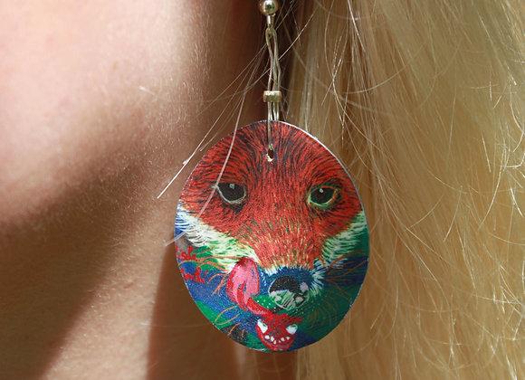 Boucles d'oreilles Fox