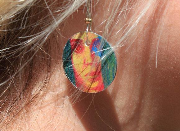 Boucles d'oreilles illustrées Ellen Page