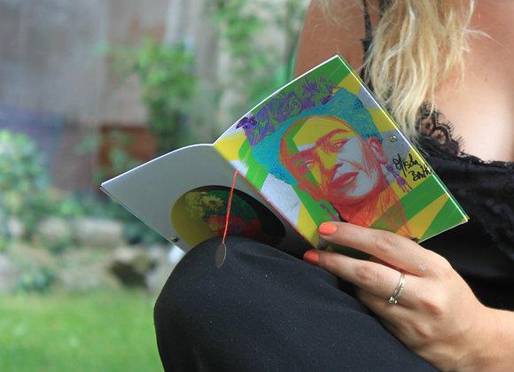 Notebook 12 pages couverture transparente Frida Kahlo
