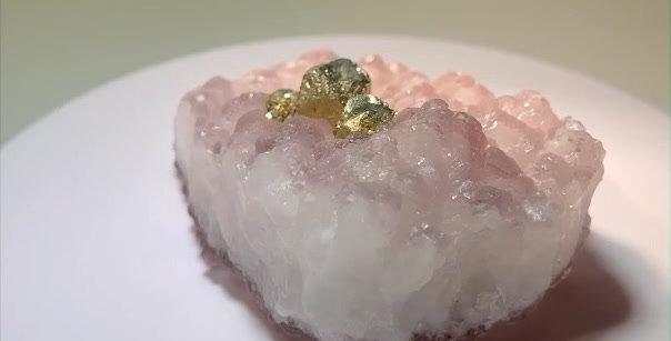 Pyrit auf Fluorit – Daye Co., Jianxi Provinz, China