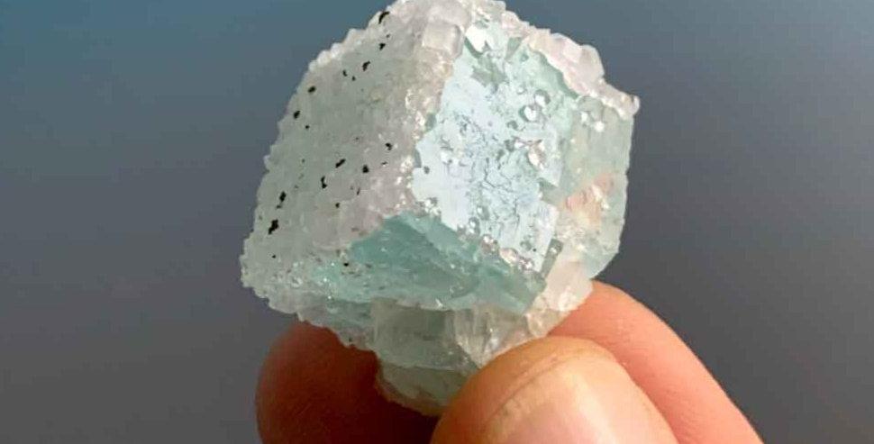Fluorit mit Quarz – El Hammam, Marokko