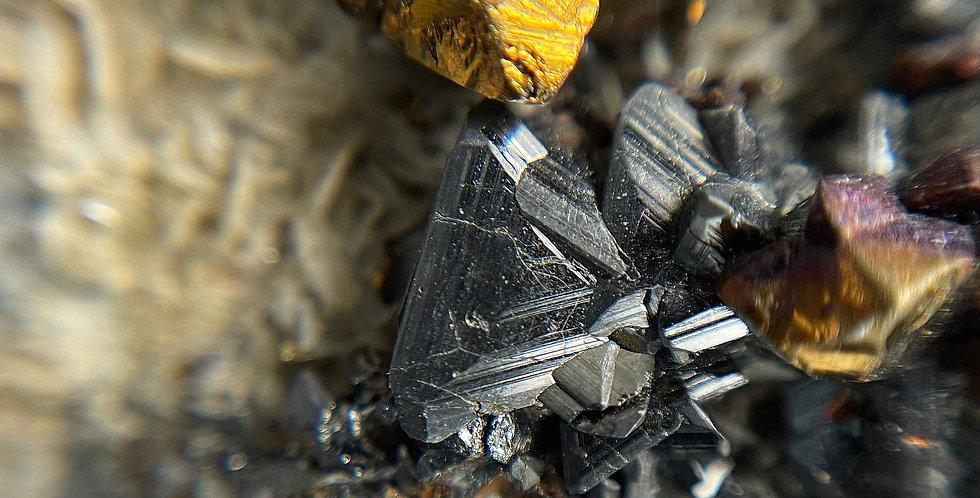 Fahlerz, Tetraedrit - Grube Georg, Horhausen, Westerwald, Deutschland